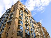Residential building. High residential building on a sky background Stock Image