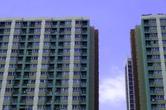 Residential building An apartment with sky stock images