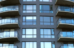 Residential building balconies condominium apartments modern living Royalty Free Stock Image