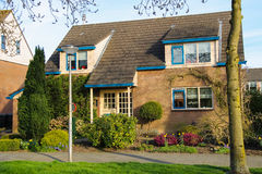 Residential building with a beautiful garden in Meerkerk Royalty Free Stock Photography