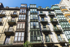 Residential building in Bilbao, Spain Royalty Free Stock Images