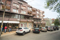 Residential building in Bourgas quarter Sarafovo, Bulgaria Royalty Free Stock Photography