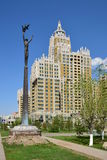 A residential building called Triumph of Astana Royalty Free Stock Images
