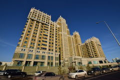 A residential building called Triumph of Astana Royalty Free Stock Photography