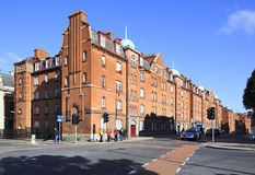Residential building in the center of Dublin Stock Photo