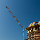 Residential building construction site royalty free stock images