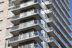 Residential building. Edge of a modern residential building Stock Image