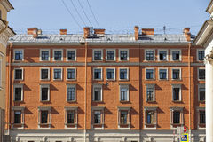 Residential Building Front. In Symmetrical Formation stock photos