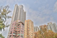 The Residential building at the hong kong. A Residential building at the hong kong Stock Photos