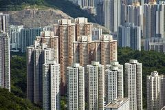 Residential Building in Hong Kong Royalty Free Stock Photos