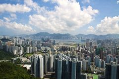 Residential Building in Hong Kong. Residential district of Hong Kong Stock Photo
