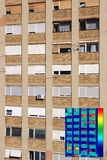 Residential building with Infrared thermovision image Stock Images