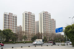 Residential building in Jingjiang road Royalty Free Stock Photo