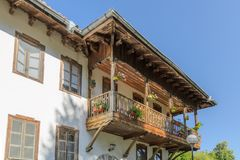Residential building in Klisurski Monastery. Klisurski Monastery is located in northwestern Bulgaria near the town of Berkovitsa. It was founded in the 1240 Royalty Free Stock Photos