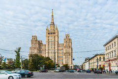 Residential building on Kudrinskaya square of Moscow Stock Image