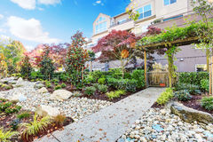 Residential building and landscape design Stock Photography