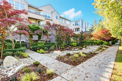 Residential building and landscape design Stock Photos