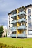 Residential building in Lappeenranta at ssummer. Stock Photo