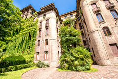 Residential building in Milan Royalty Free Stock Photos