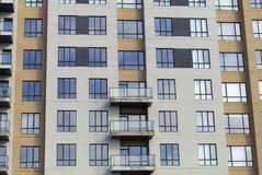 Modern residential building apartment condo town houses full frame royalty free stock images