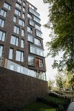 Residential building of modern design. High-rise building. Urban architecture. Poland Warsaw. Wroclaw stock photos