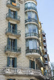 Residential building of Modernism style, Barcelona. Facade of residential building of Modernism style in Barcelona, Catalonia, Spain stock photo
