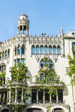 Residential building of Modernism style, Barcelona. Facade of residential building of Modernism style in Barcelona, Catalonia, Spain stock images
