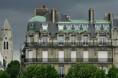 Residential building paris Stock Images
