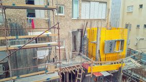 Residential building reconstruction in process stock photo