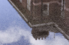 Residential building reflected in the water Manchester, England Stock Images