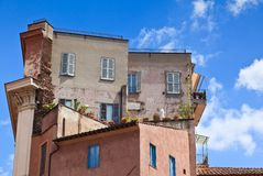Residential building in Rome, Italy. Stock Photos