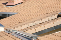 Residential building roof Royalty Free Stock Photo