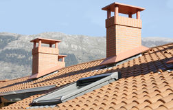 Residential building roof Stock Image