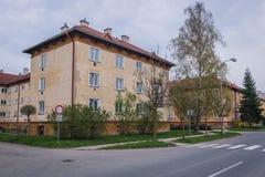Roznov pod Radhostem. Residential building in Roznov pod Radhostem, small town in Czech Republic royalty free stock image