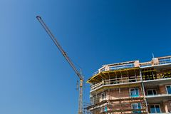 Residential building site royalty free stock photos