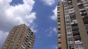 Residential Building Skyscrapers with Blue Summer Sky stock video