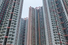 Residential building to the sky in Hong Kong Royalty Free Stock Images