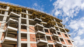 Residential building under construction Royalty Free Stock Images