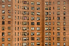 Residential building windows Royalty Free Stock Photography