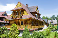 Residential building, wooden villa in Zakopane Stock Images