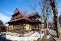 Residential building, wooden villa, Zakopane Stock Image