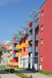 Residential building in Wroclaw Poland. The colorful building Royalty Free Stock Photo