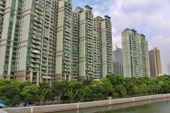 Residential building at Wusong River. In Shanghai Stock Image
