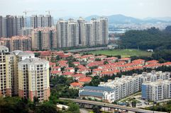 The residential buildings Royalty Free Stock Photography