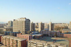 Residential buildings. In Beijing, China, residents of the district where the buildings of varying height Stock Photo
