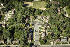 Residential buildings from above Stock Photo