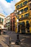 Residential buildings around main square in Cagliari, Sardinia Stock Images