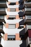 Residential buildings. Balconies in residential buildings in Rome Stock Images