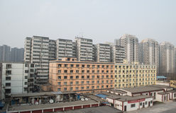 Residential buildings in Beijing. In Beijing, China, more and more people to live, while the construction of tall buildings year after year, this photo was taken Royalty Free Stock Photo