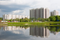 Residential buildings in Bibirevo district in Moscow Royalty Free Stock Image